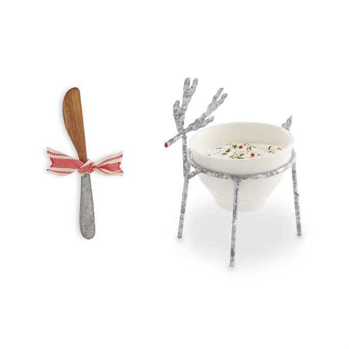 Mud Pie Reindeer Dip Bowl Set