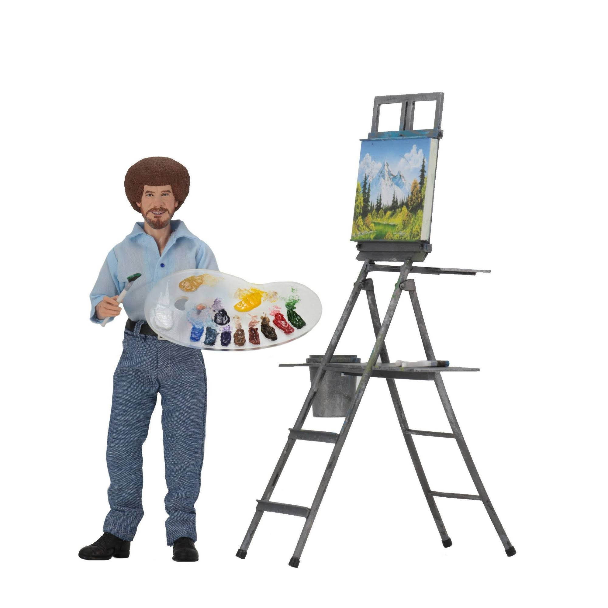 Neca Bob Ross Clothed Action Figure - The Joy of Painting, 8""
