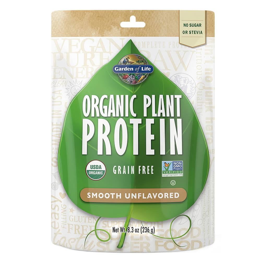 Garden of Life Organic Smooth Plant Protein - Natural, 8oz