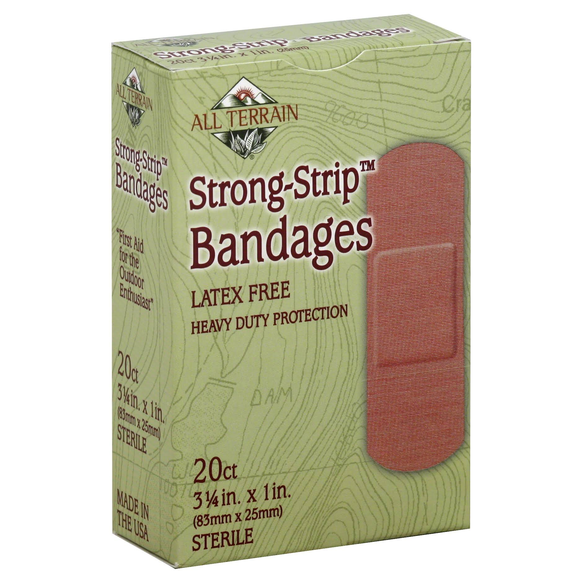All Terrain Heavy Duty Strong Strip Bandage - 2.5x8.3cm, 20 Bandages