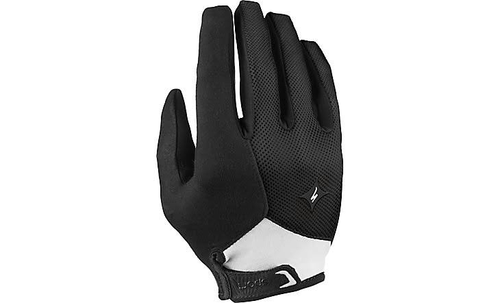 Specialized Women's Sport Long Finger Gloves - Black and White, Small