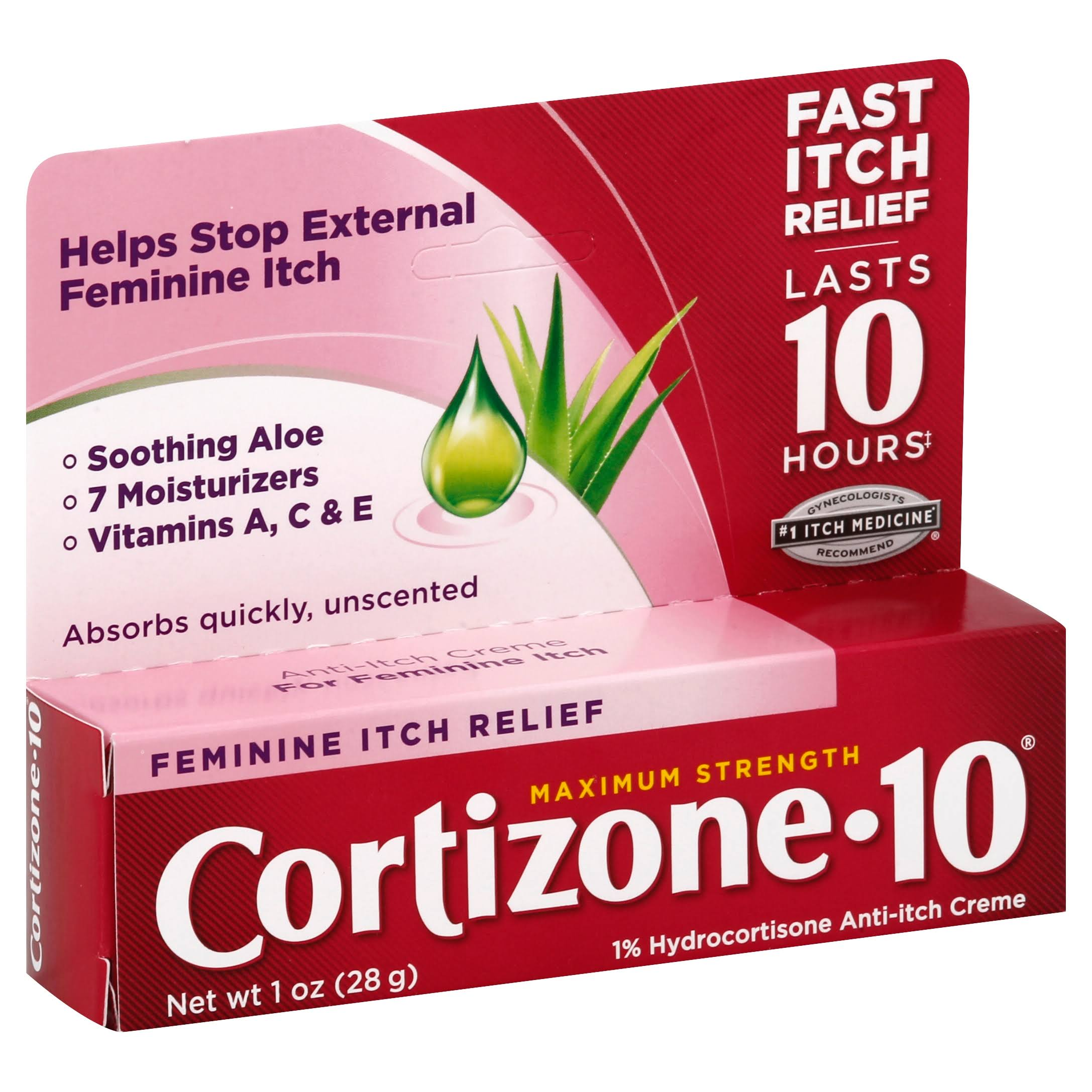 Cortizone-10 Maximum Strength Feminine Relief Anti-Itch Creme - 1oz