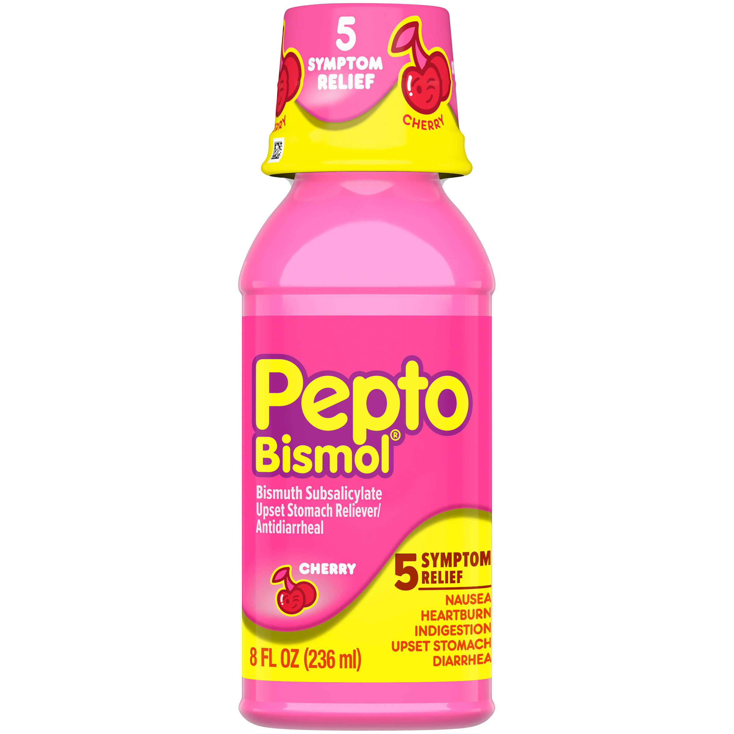 Pepto Bismol Cherry Bismuth Subsalicylate Antidiarrheal Upset Stomach Reliever - 8oz