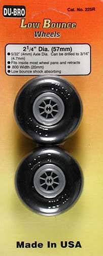 Dubro Low Bounce Smooth Wheels Pack - 2pk, 2 1/4""