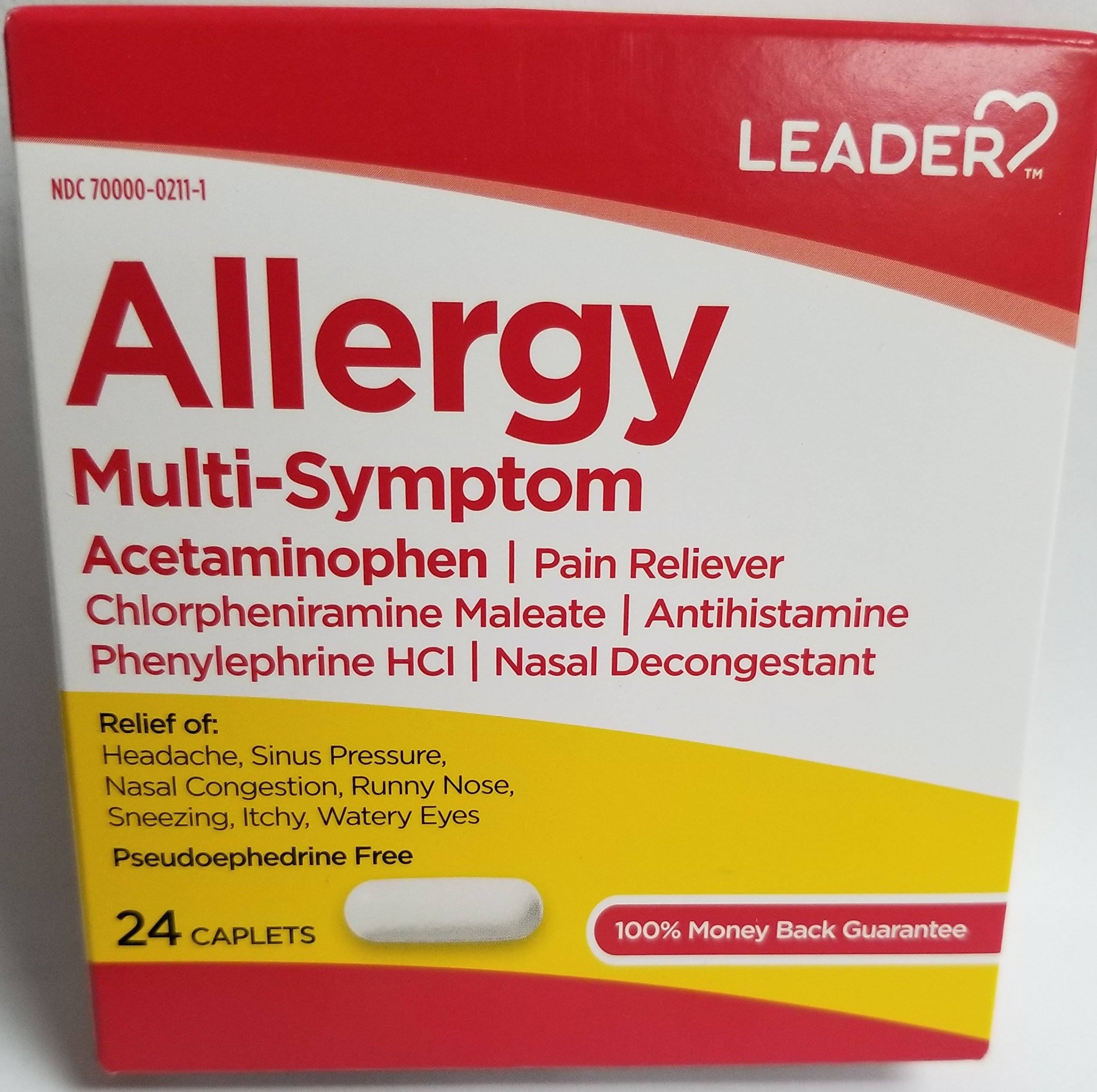 Leader Allergy Multi Symptom 24 Caplets