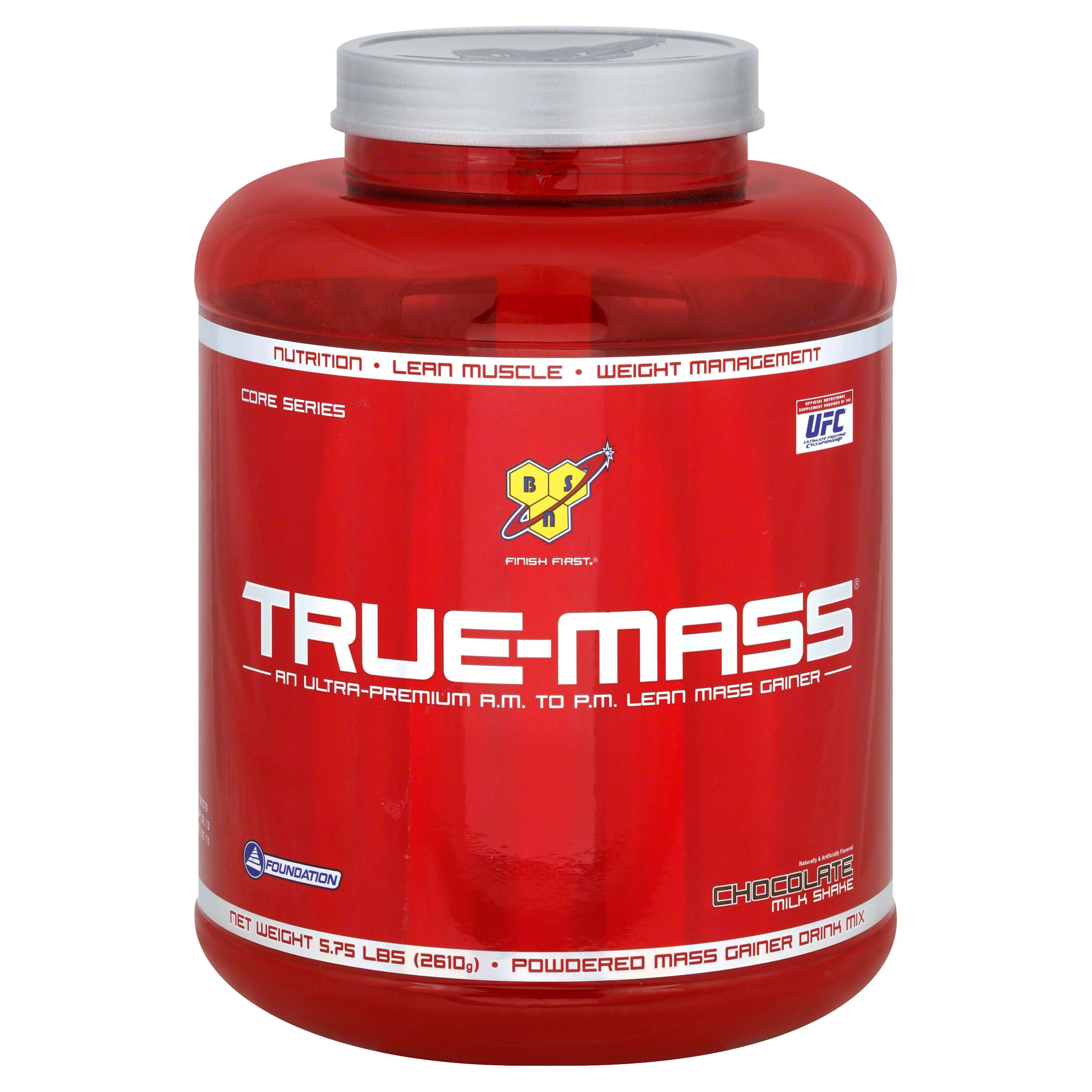 BSN True Mass Weight Gainer - Chocolate Milkshake, 5.82lbs