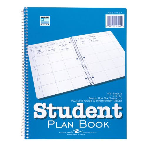 "Roaring Spring Student Plan Book - 11"" x 8.5"", 45 Sheets"