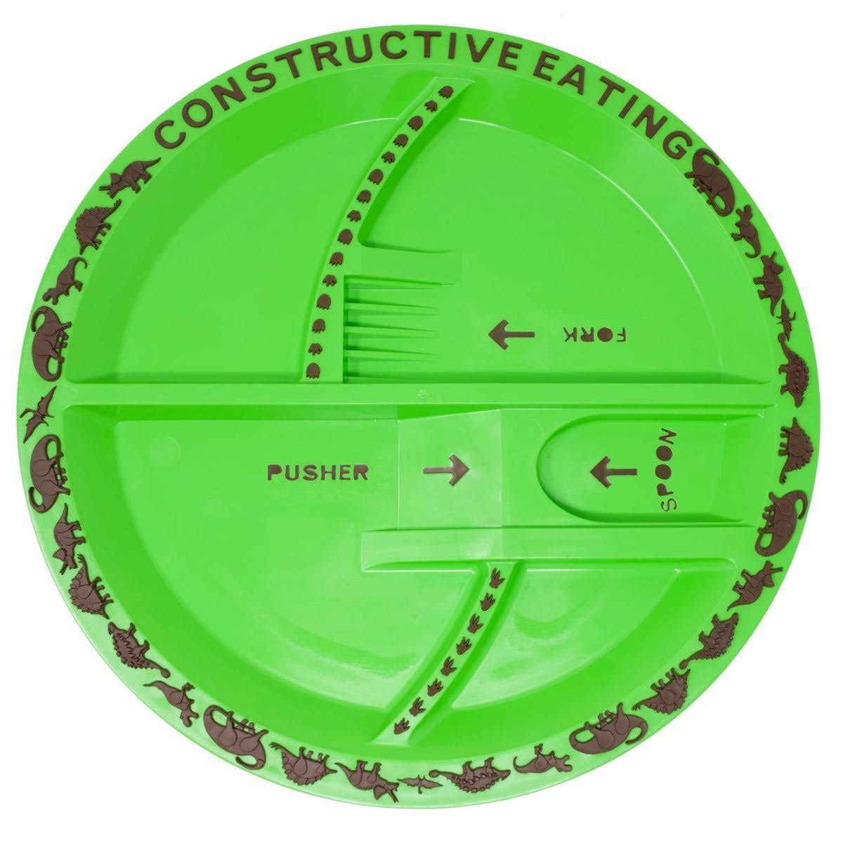 Constructive Eating Dinosaur Plate