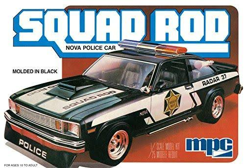 MPC 851 Squad Rod Nova Police Car Plastic Model Kit - 1:25 Scale