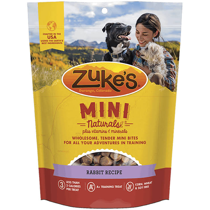 Zuke's Mini Naturals Healthy Moist Miniature Dog Treats - Wild Rabbit