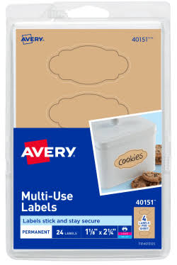 Avery 40151 Removable Multi-Use Labels - 24ct