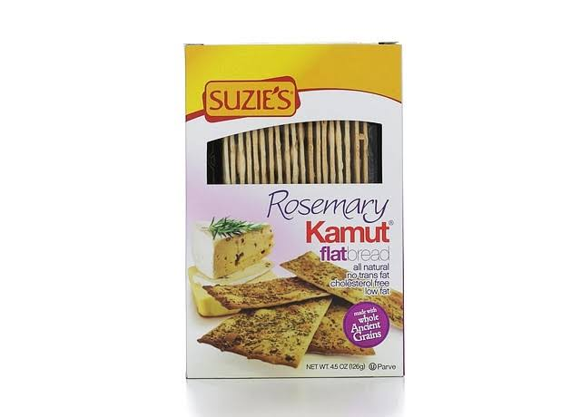 Suzie's Kamut Flatbreads - with Rosemary, 4.5oz, Pack of 12