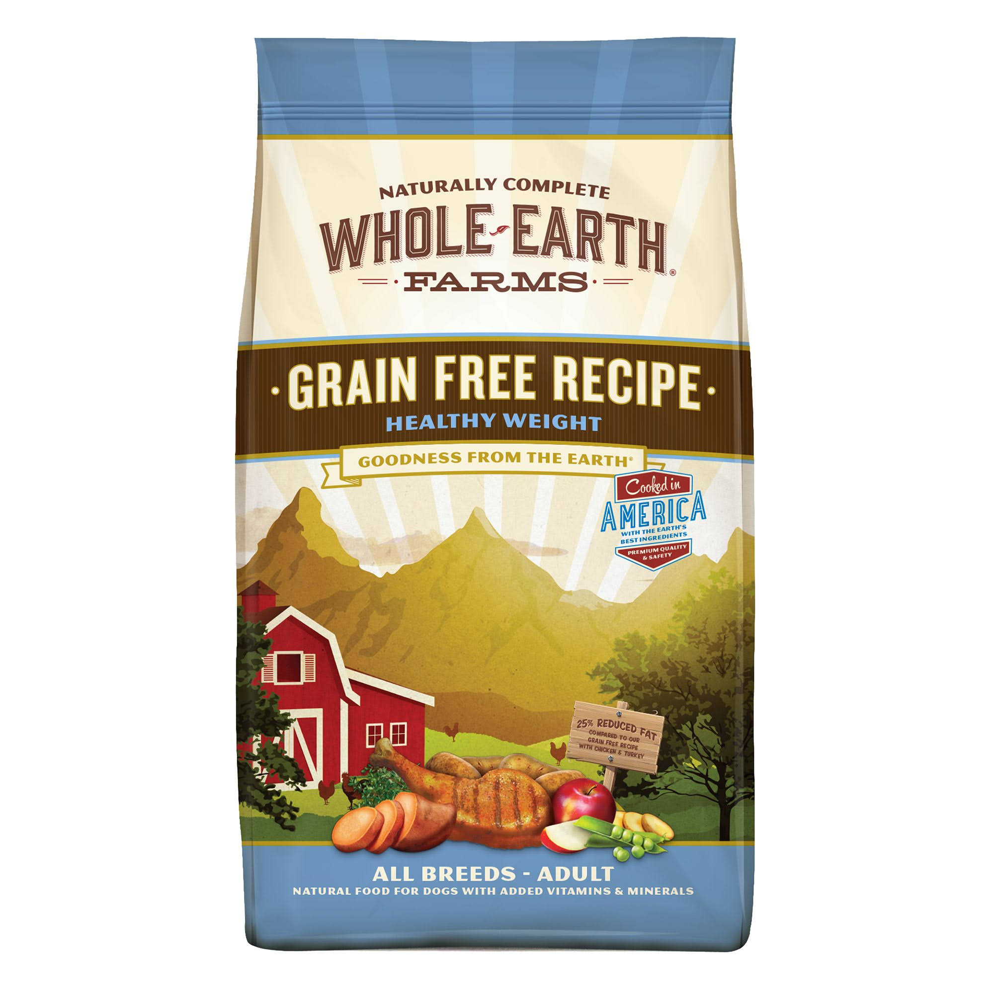 Whole Earth Grain Healthy Weight Dog Food - 4 Lbs