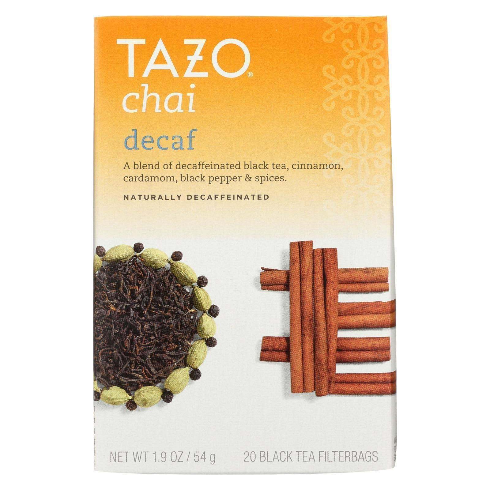 Tazo Black Tea Filterbags - Chai Decaf, 1.9oz, 20pcs