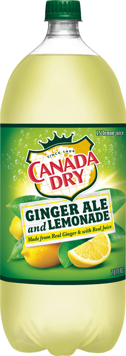 Canada Dry Ginger Ale and Lemonade, 2 L bottle