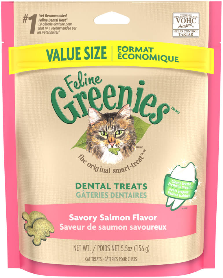 Greenies Feline Dental Treats - Savory Salmon, 156g