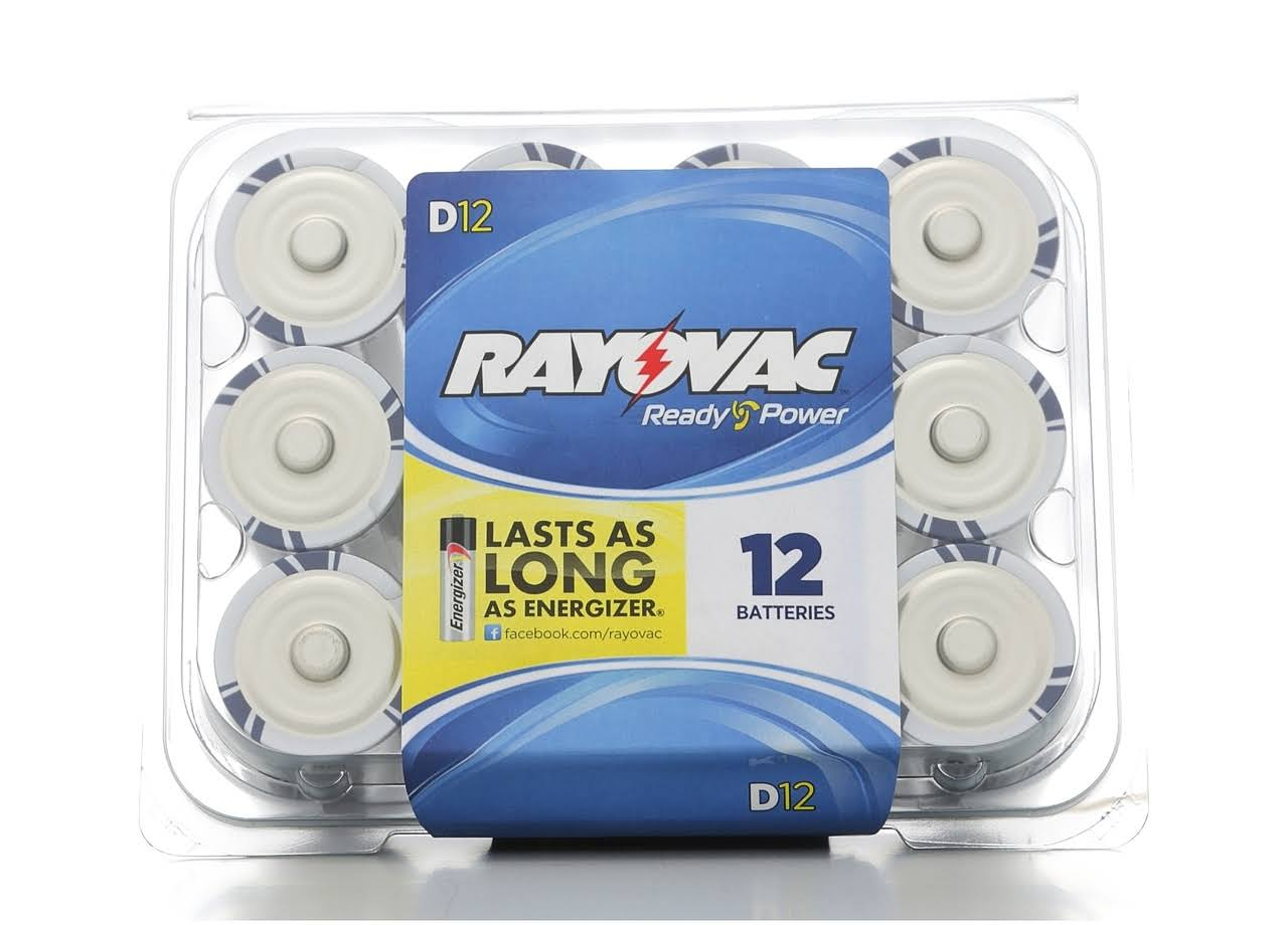 Rayovac Alkaline Reclosable Pro Pack D Batteries - 12 Pack