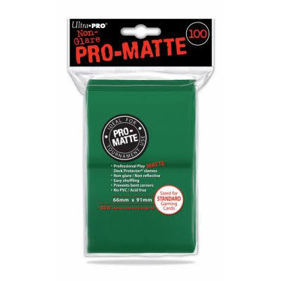 Ultra Pro Deck Protector Sleeves Pro-Matte - Green