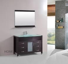 Ebay Bathroom Vanity With Sink by 48 Inch Single Vanity Bathroom Tempered Glass Sink Cabinet Combo