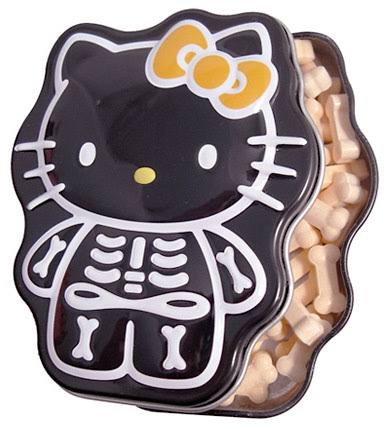 Hello Kitty Halloween SkeleBones Candy Tin