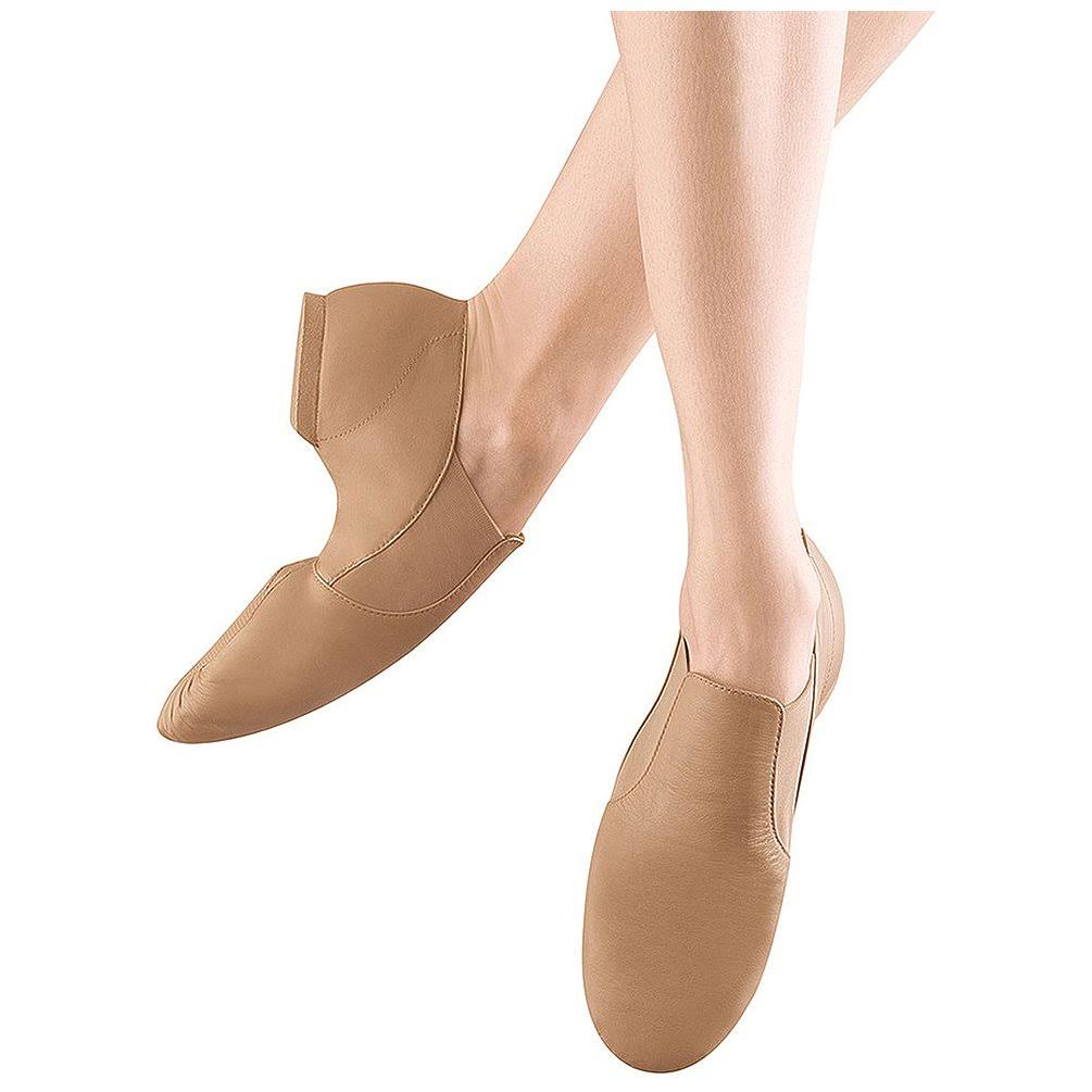 Adult Elasta Bootie Slip-on Jazz Boot - Tan, Medium