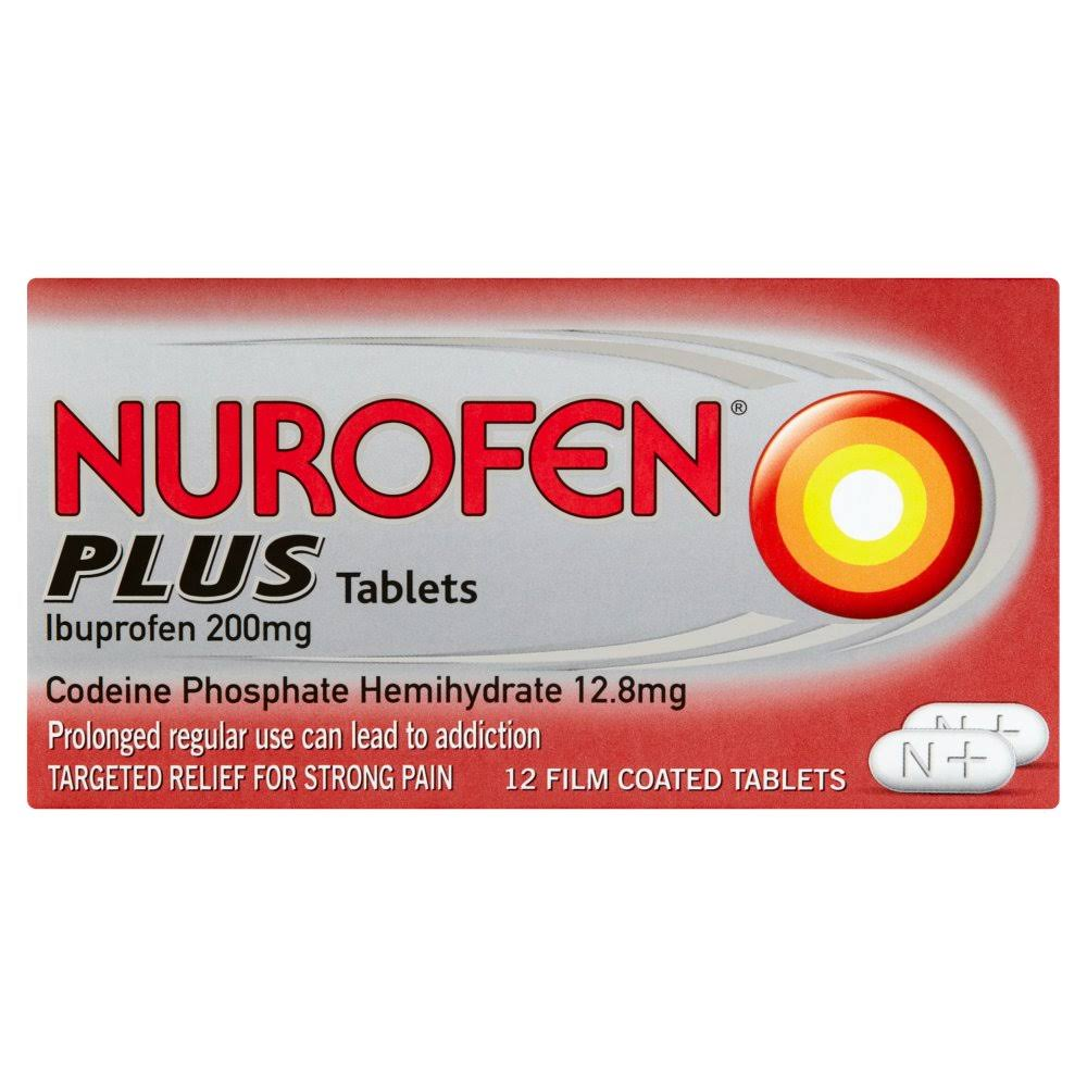 Nurofen Plus Ibuprofen 200mg Tablets 12 Film Coated Tablets