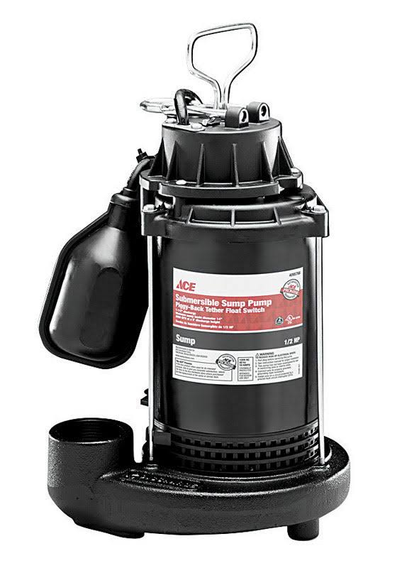 Wayne ADT50 Water Systems Sump Pump - 1/2 HP, 3900 GPH, 120V