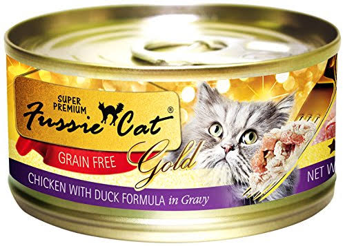 Fussie Cat Super Premium Pet Food - Chicken With Duck Formula in Gravy, 2.82oz