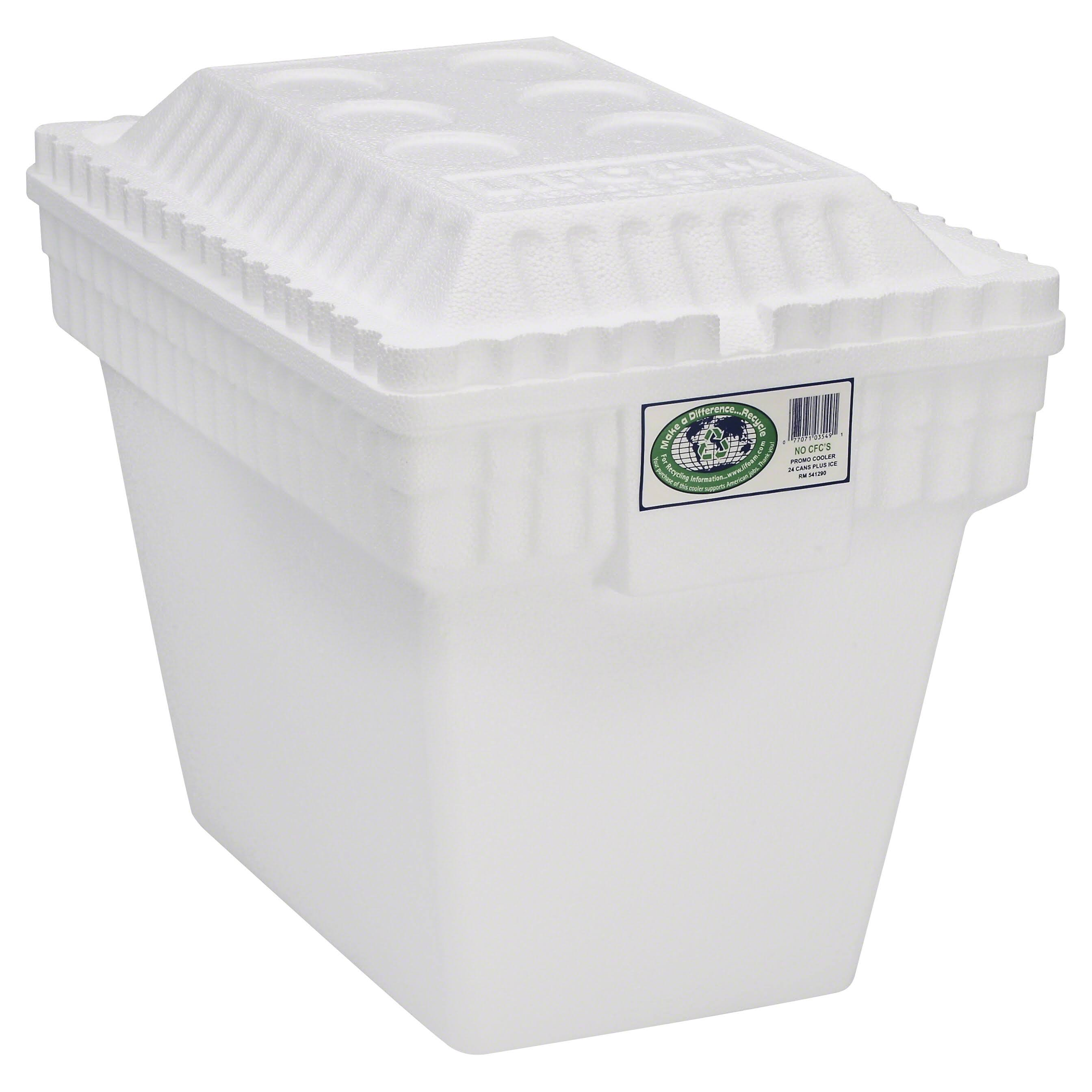 Lifoam Styrafoam Ice Chest Cooler - with Molded Side Carry Handles, 30qt
