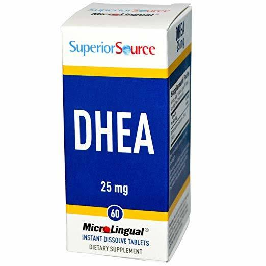 Superior Source Dhea Dietary Supplement - 25mg, 60 MicroLingual Tablets