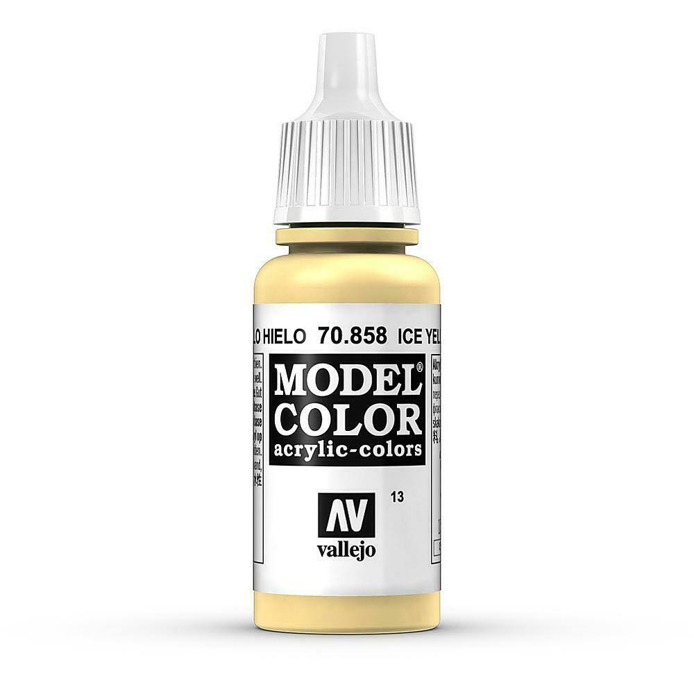 Vallejo Model Color Acrylic Paint - Ice Yellow, 17ml