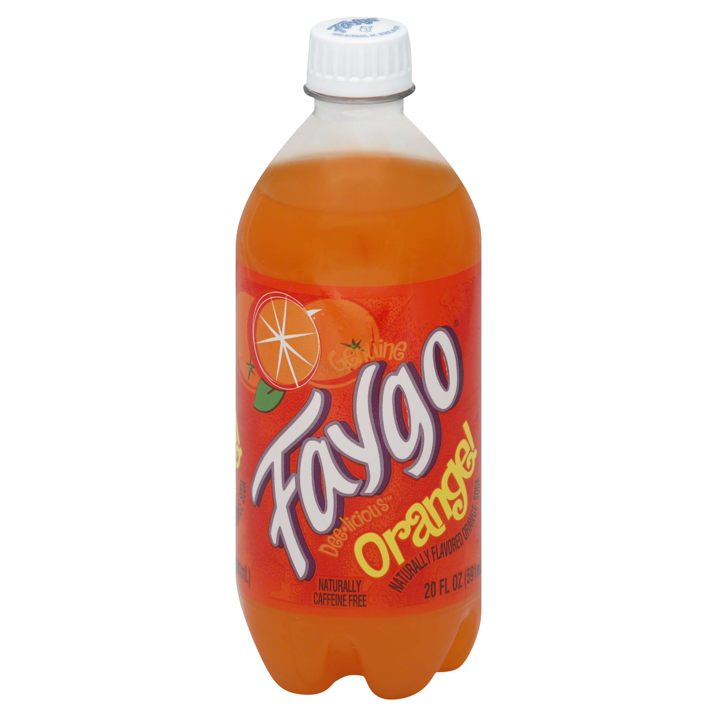 Faygo Flavored Soda - Orange, 20oz