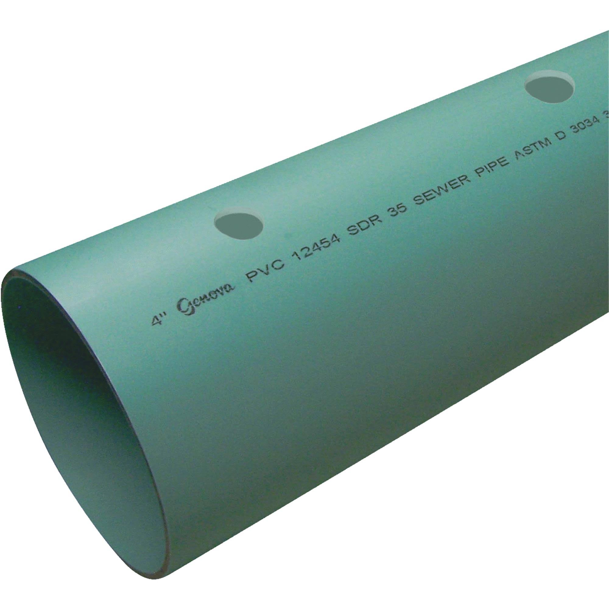 Genova Perforated PVC Drain Pipe 40051