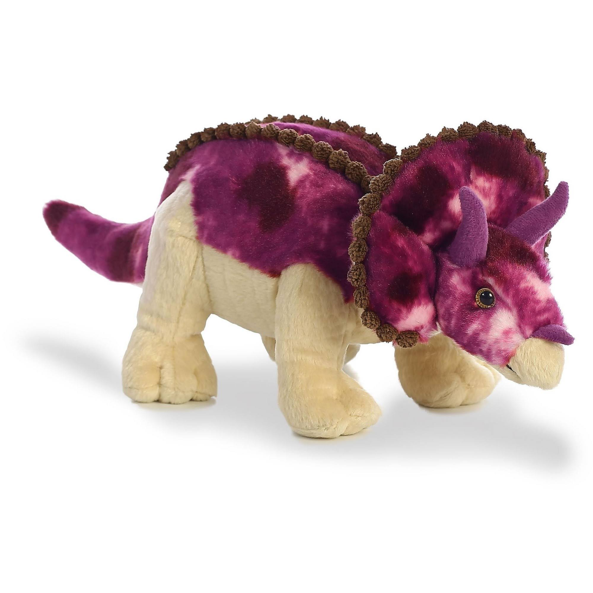 Aurora World Triceratops Dinosaur Plush, 14""