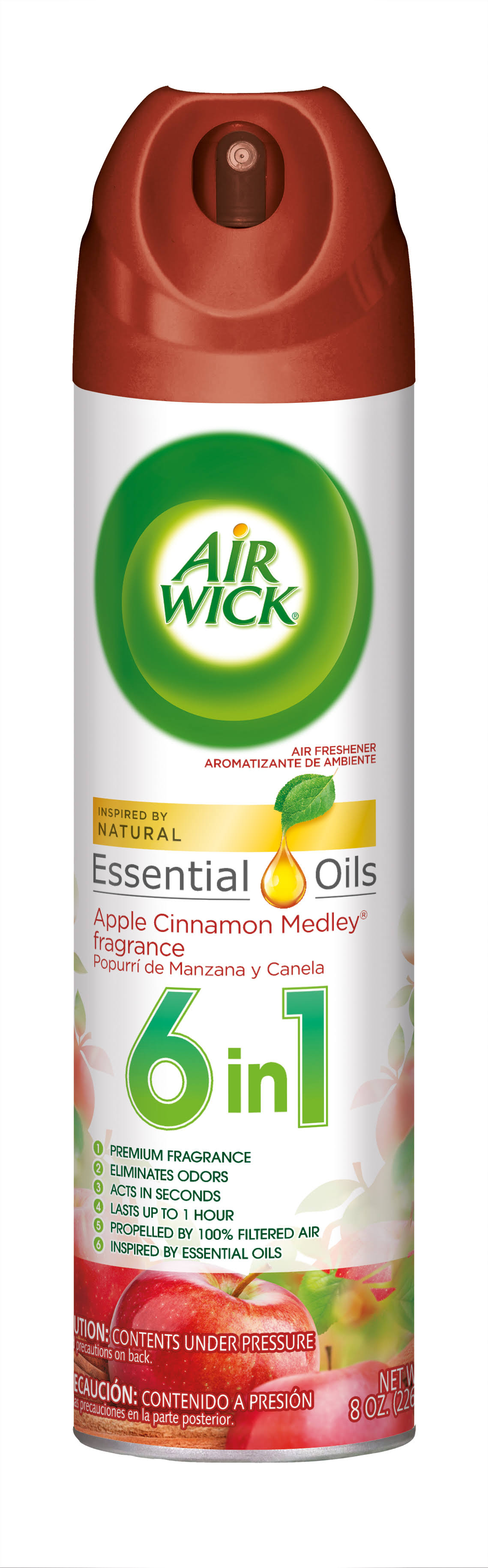 Air Wick Air Freshener Spray - Apple Cinnamon, 8 Oz