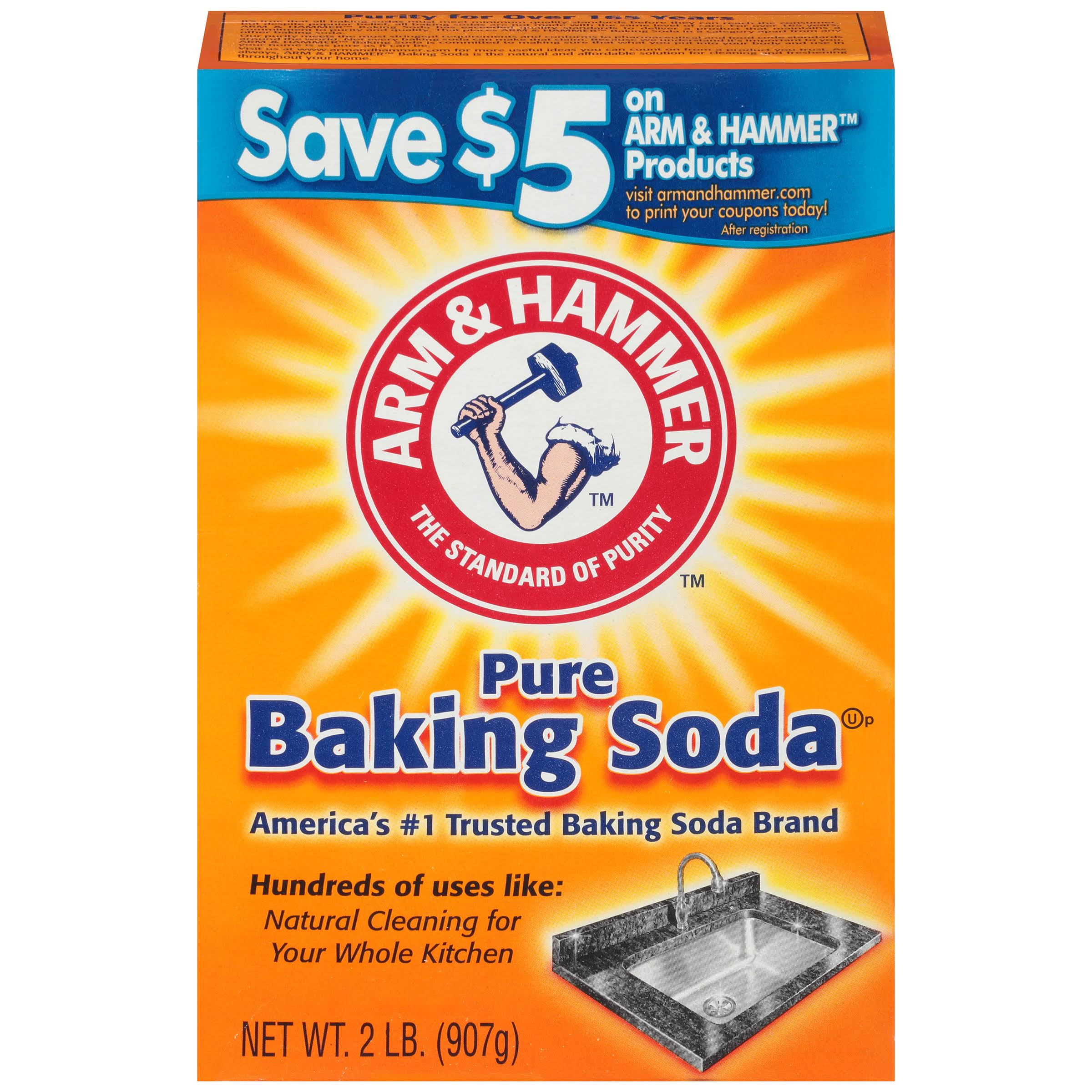 Arm and Hammer Pure Baking Soda - 2lb