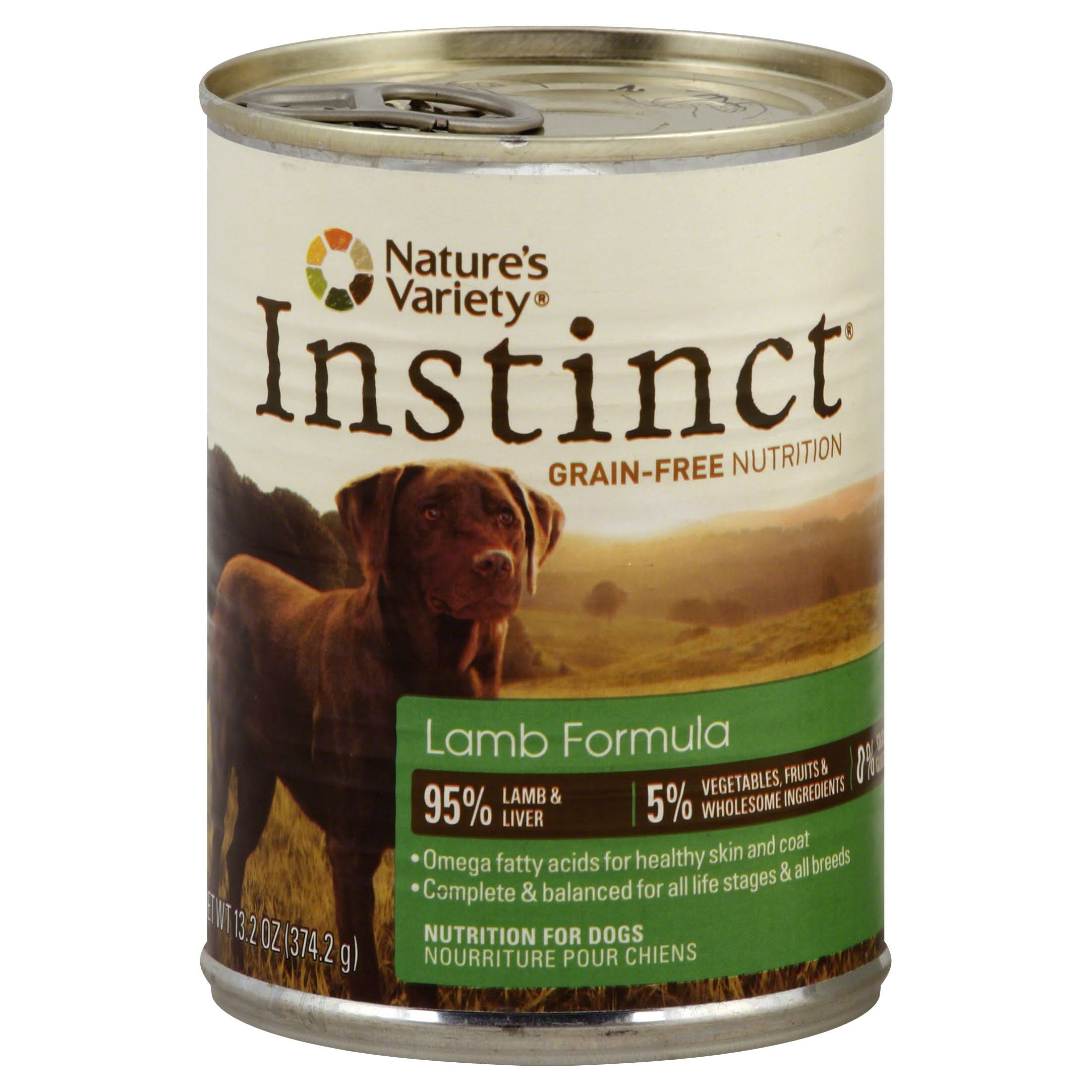Nature's Variety Instinct Dog Food - Lamb
