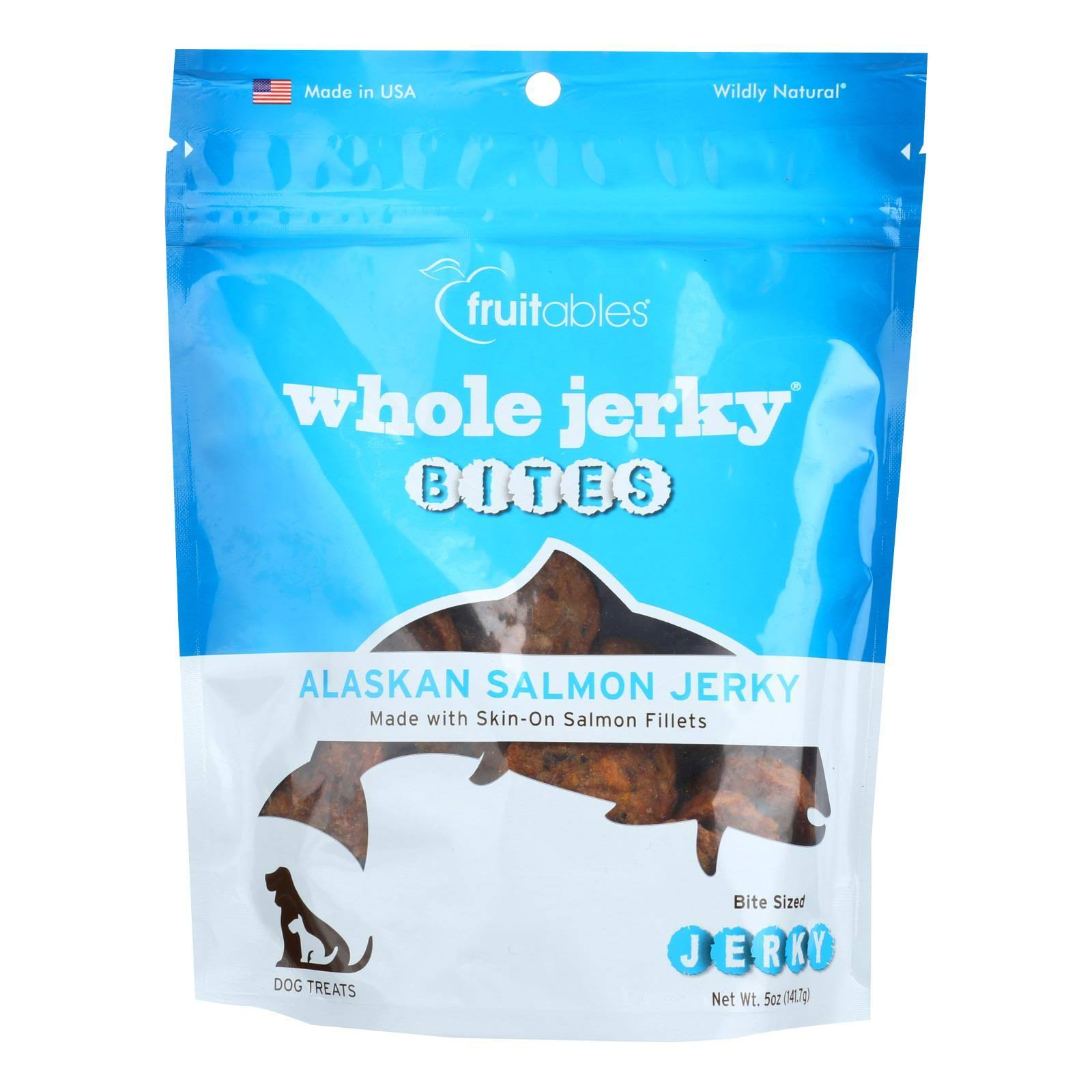 Fruitables Whole Jerky Bites Alaskan Salmon Dog Treats - 5 oz