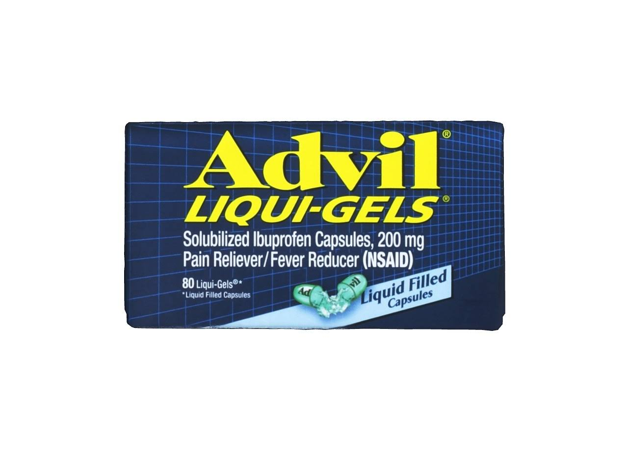 Advil Liqui-Gels Ibuprofen Pain Reliever/Fever Reducer - 200mg x 80 Capsules