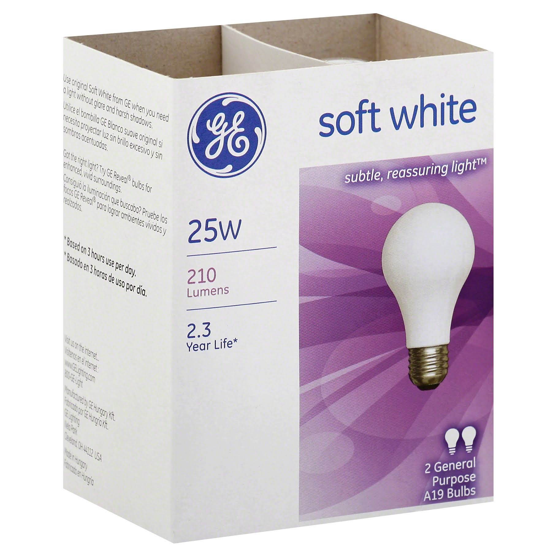 GE Light Bulb - Soft White, 25W
