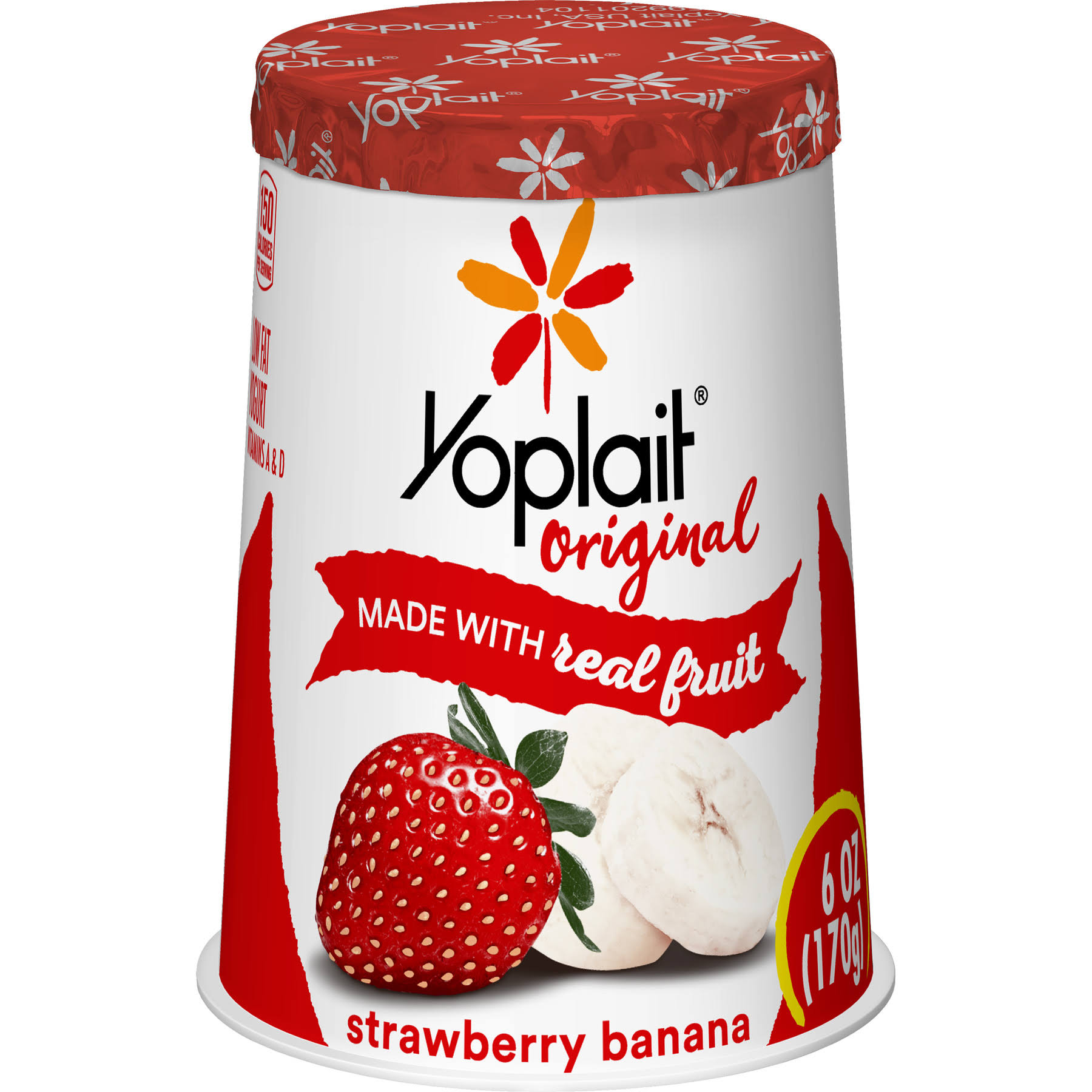 Yoplait Original Low Fat Yogurt - Strawberry Banana, 6oz