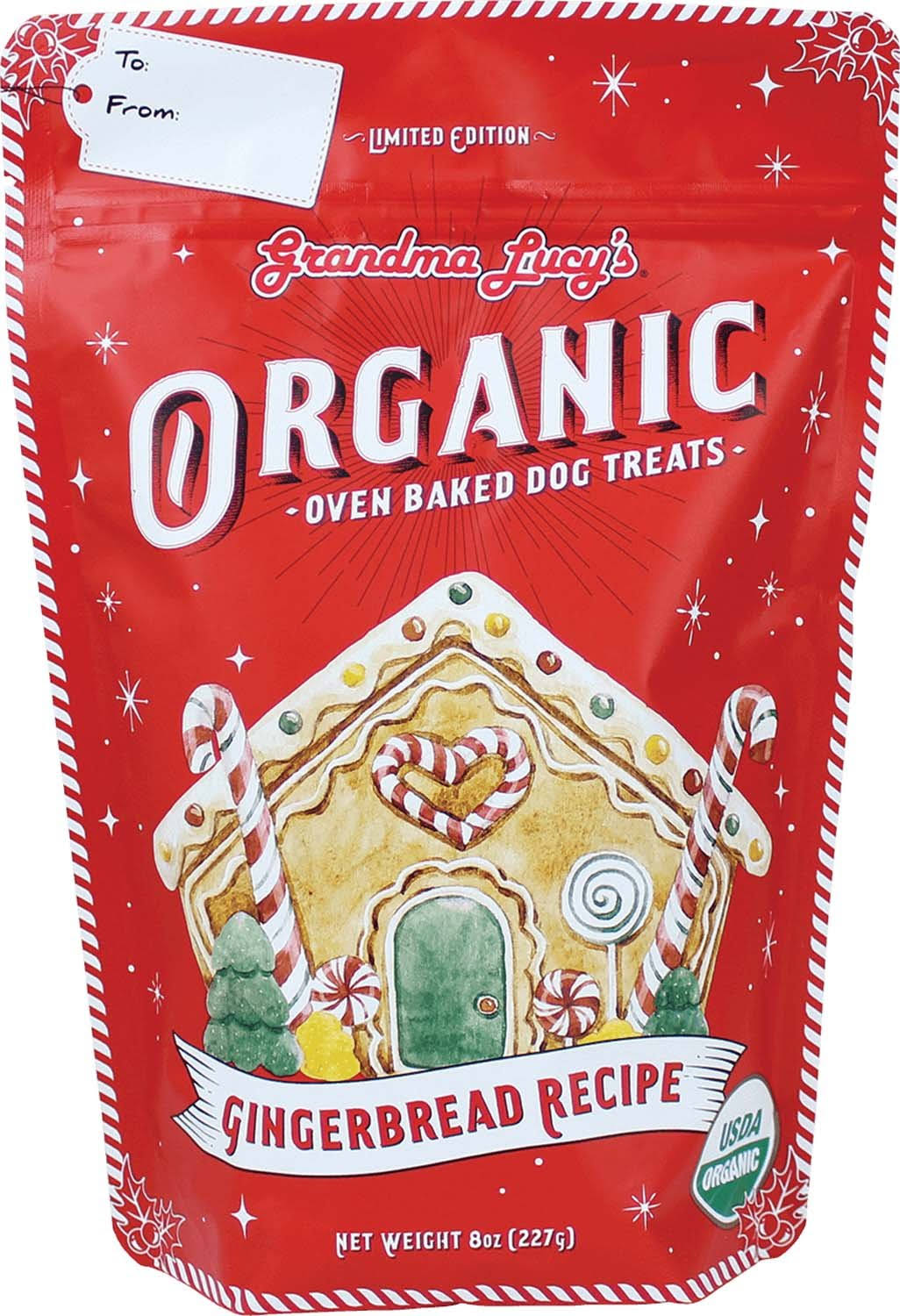 Grandma Lucy's Organic Gingerbread Oven Baked Dog Treats, 8-oz Bag