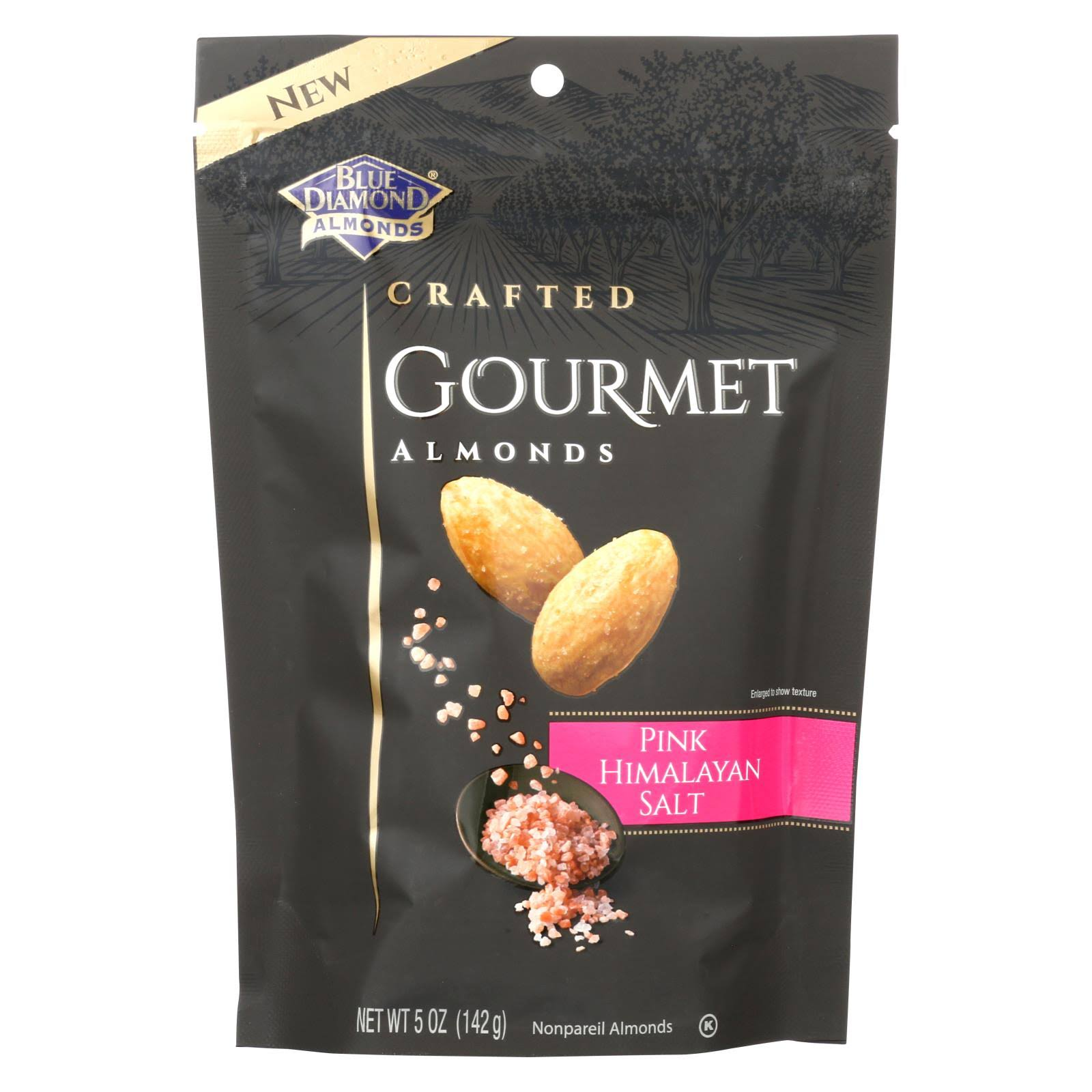 Blue Diamond Crafted Gourmet Almonds, Pink Himalayan Salt - 5 oz bag