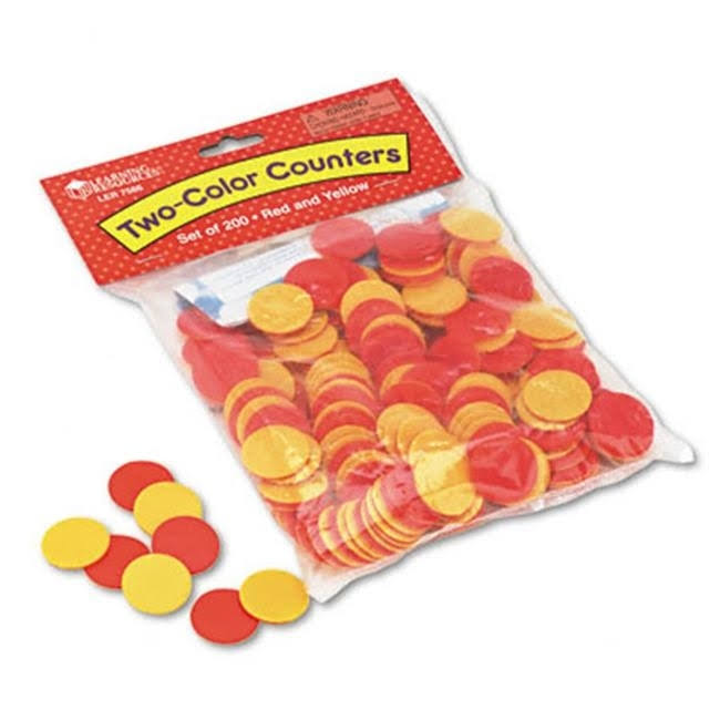 Learning Resources Two-Color Counters - Red & Yellow, 200 Set