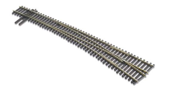 Peco Ho Scale Code 83 Electrofrog #7 Right-Hand Turnout