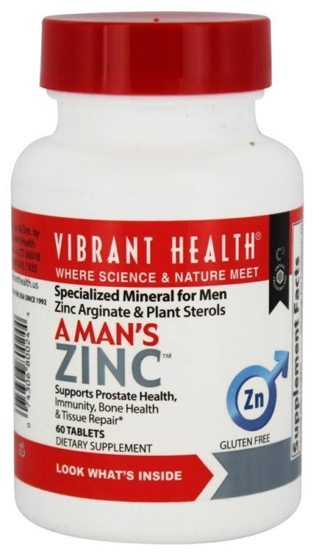 Vibrant Health A Man's Zinc - 60 Vegetable Capsules