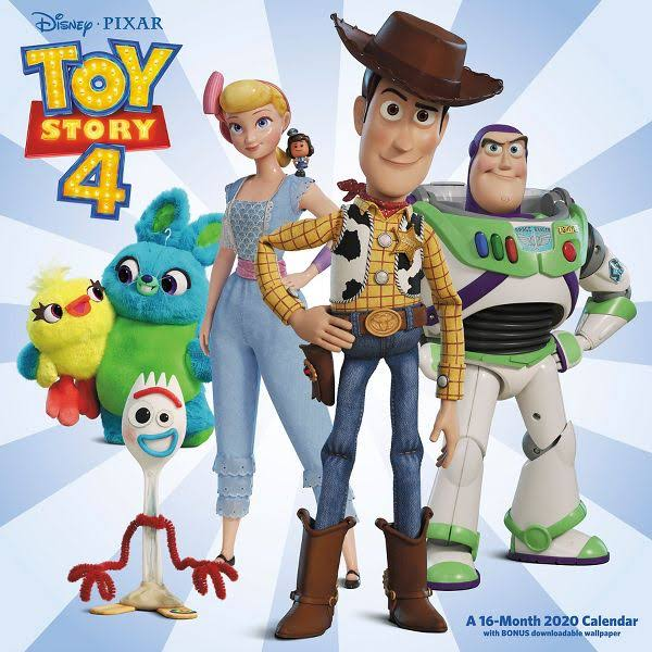Mead Disney Pixar Toy Story 4 12x12 Monthly Wall Calendar - Disney
