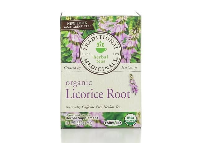 Traditional Medicinals Organic Licorice Root Herbal Tea - 16 Tea Bags