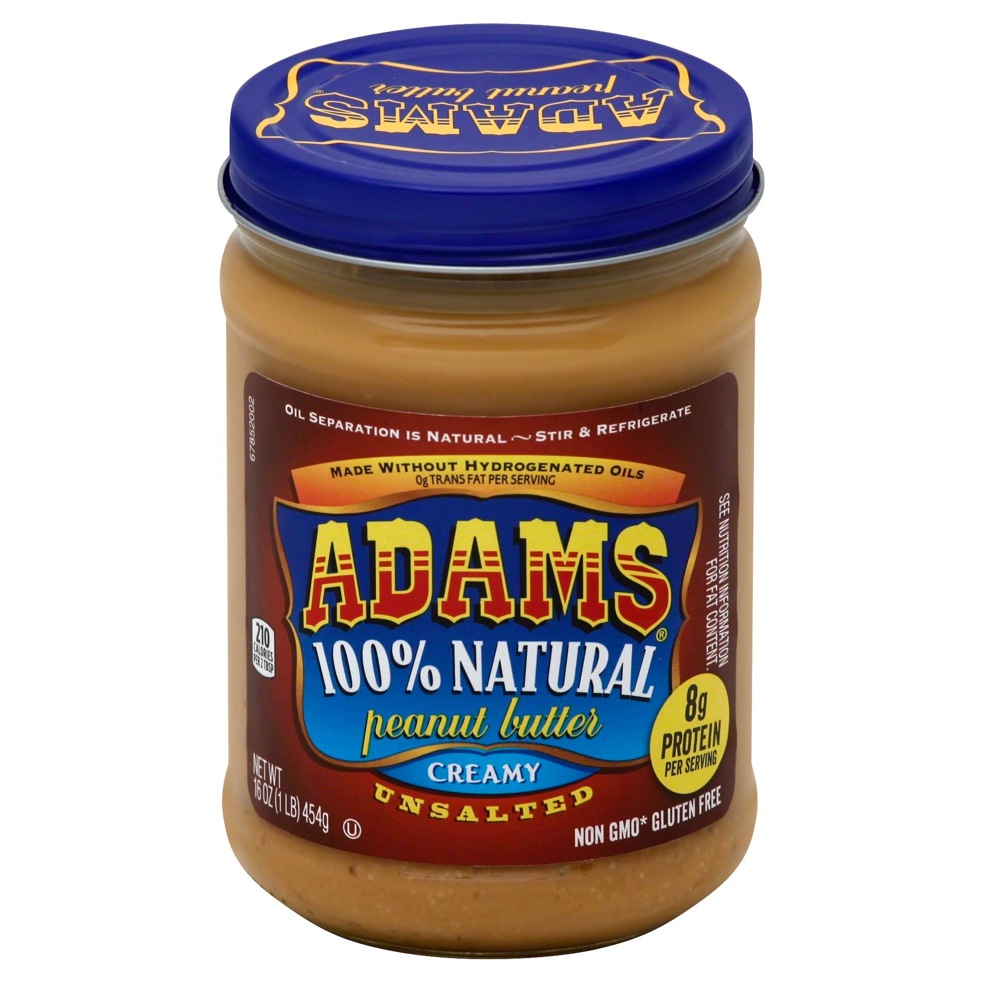 Adams Unsalted Creamy Peanut Butter - 16oz