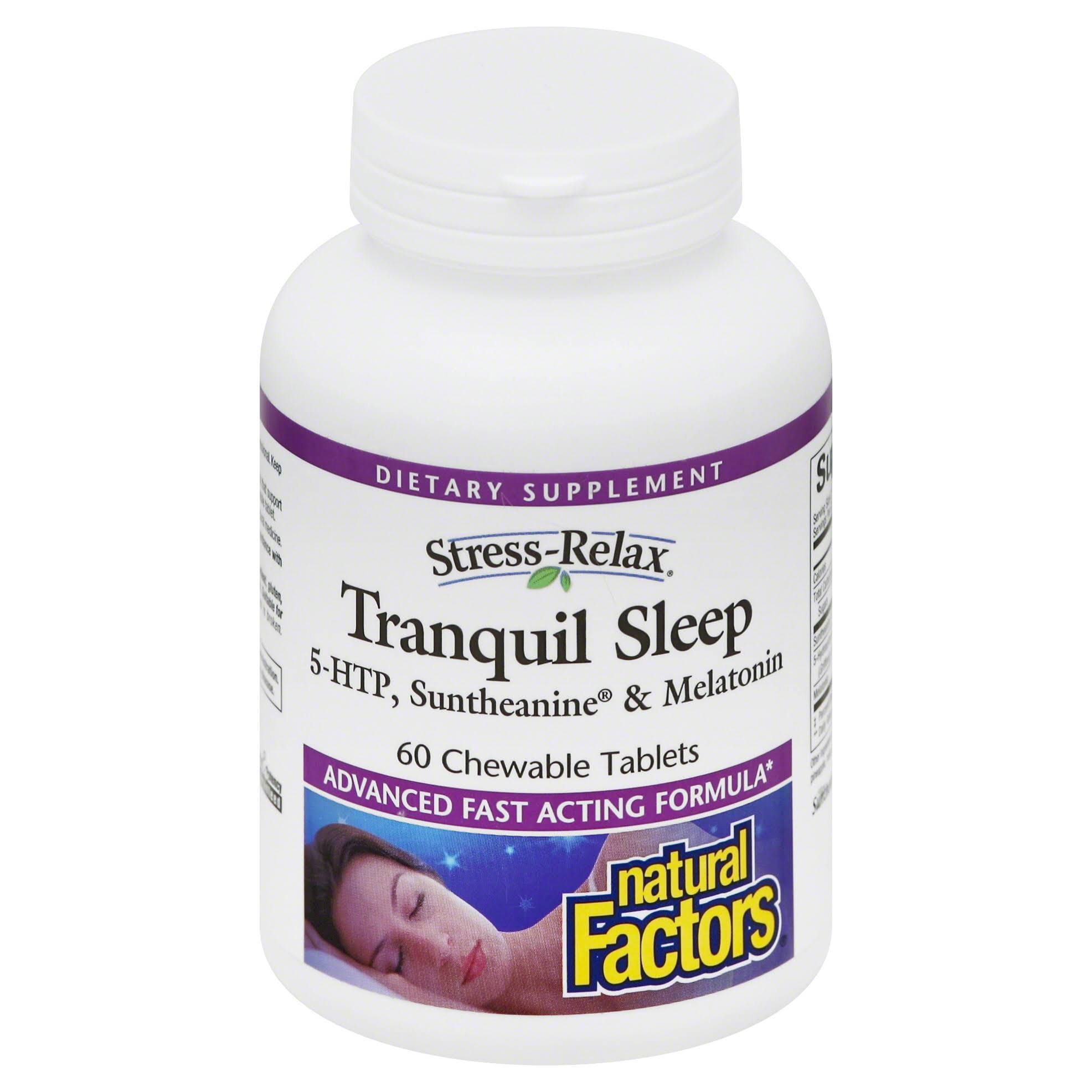 Natural Factors Stress-Relax Tranquil Sleep, Chewable Tablets - 60 count